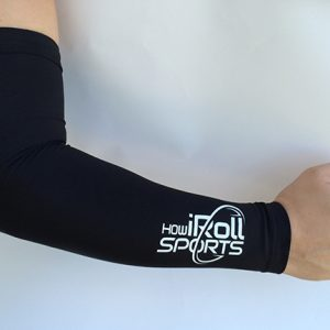 Black compression sleeve with White Logo