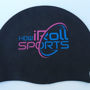 Hot Pink & Blue How iRoll Sports Swim Cap