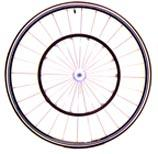 "26"" Tubular Racing Wheelchair Wheel w/ Pushrim"