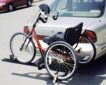 Top End Handcycle Car Rack