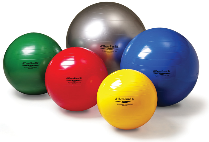 thera band exercise ball inflation instructions
