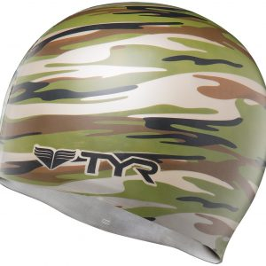 Camo Swim Cap - Green
