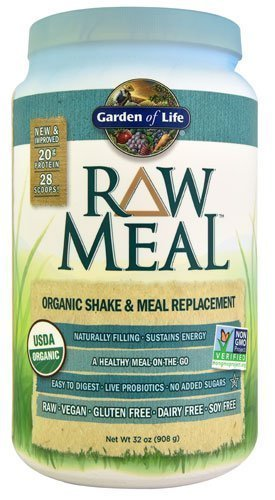 Garden Of Life Organic Raw Meal Chocolate Vanilla Vanilla Spiced Chai Unflavored How